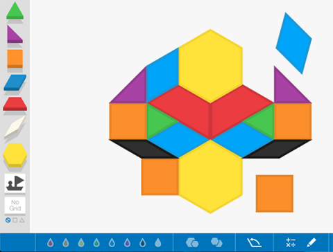 Virtual Pattern Blocks
