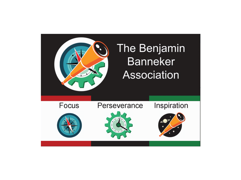 Logo for the Benjamin Banneker Association: Focus | Perseverance | Inspiration