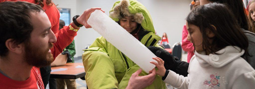 Photo of ice core