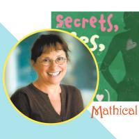 "Wendy Lichtman and book cover of ""Secrets, Lies, and Algebra"""