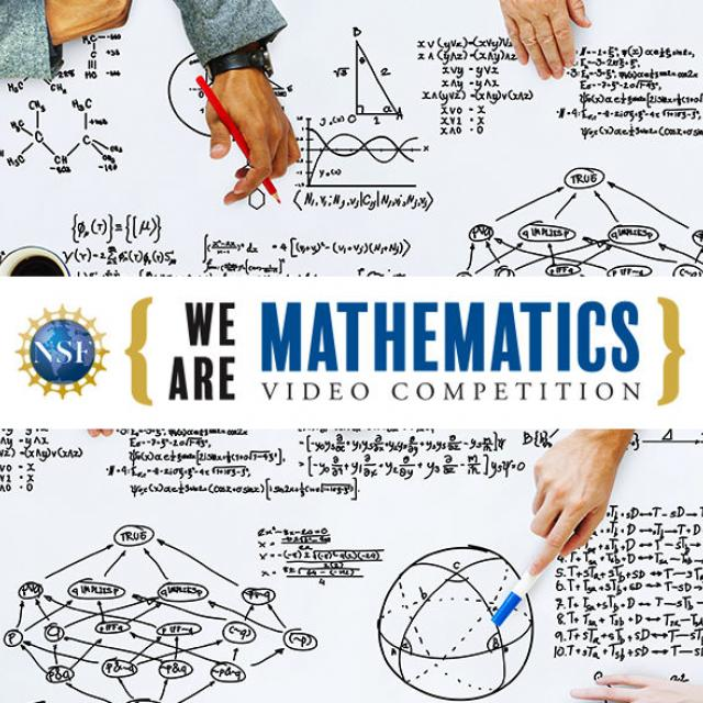 "Logo for the ""We Are Mathematics"" Video Competition"